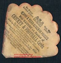 1880's Midland Counties Football Union fan-shape card by Baines Litho of Manningham